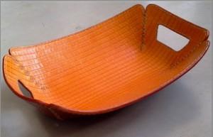 C A orange plate