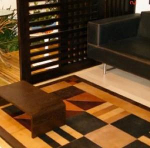 Leather area rug (Arte Mural – Cueros Arquitectonicos)