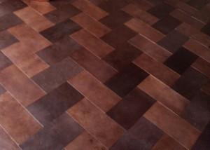Leather floor Fishbone pattern (Cueros Arquitectónicos – Artefactos – Diseño Interior)