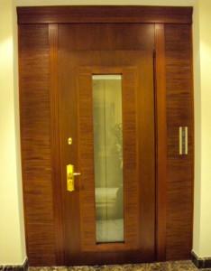 leather and wood door panel wenge
