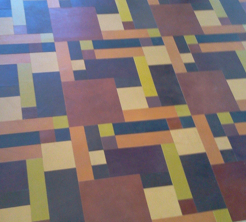 leather tile multicolored